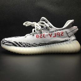 Wholesale Zebra Flat Shoes Women - With Box 2017 Wholesale 350 V2 Boost Zebra Beluga 2.0 Running Shoes Kanye West Sply 350 V2 Men Women Kanye West Boosts Shoes Sneaker