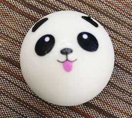 Wholesale Panda Keychains - Kawaii Squishy Rare Jumbo Squishies Panda Bread for Keys Phone Strap Mobile Phone Charm Toys Pendant Keychains Cell Phone Accessories Toy