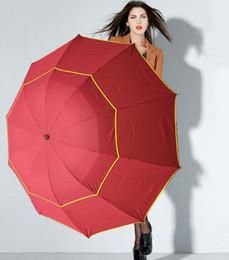 Tube en nylon en Ligne-Chaude 130 cm Grand Qualité Parapluie Hommes Pluie Femme Coupe-Vent Grand Paraguas Hommes Femmes Soleil 3 Floding Grand Parapluie En Plein Air Parapluie