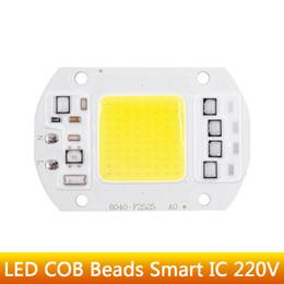 Wholesale 5w Globe Bulb Led Chip - LED COB Bulb Lamp 5W 20W 30W 50W LED Chip Beads 110V 230V Input IP65 Smart IC Fit For DIY LED Flood Light Cold White Warm White