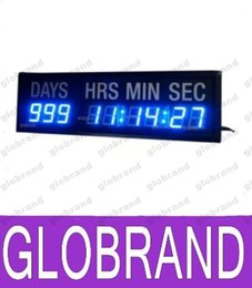 Wholesale Count Day - Blue LED Countdown Clock In Days Hours Minutes Seconds Every 24Hours Decrease 1 Day Countdown And Count Up Days Until Event For Gift Office