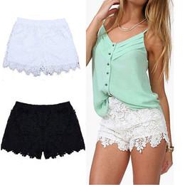 Wholesale Plus Size Crochet Skirt - Wholesale- 2017 New Ladies Mini Skirt Mesh Lace Crochet Tiered Womens Shorts Skorts Short Pants
