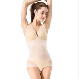 Wholesale Woman Translucent Lace - Wholesale-Hot Shaper Lace Translucent Leotard Shapers Thin Hollow Out Women Lace Fajas Modeladoras Slimming Body Shaper Bodysuits
