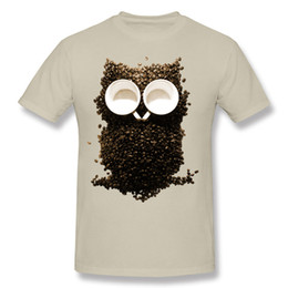 Wholesale Night Shirt Men - creative composition Short Sleeve Tshirs Hoot Night Owl Coffee and owl t shirts for men new style Cotton Tee Shirt.