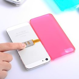 Wholesale dual sim adapters for iphone - Wholesale-Dual SIM Single Standby Adapter for iPhone 5   5C   5S   6   6S  6 Plus   6S Plus