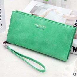 Wholesale Multi Function Women Fashion Wallet - Ms. zipper wallet long section of high-capacity multi-function clutch Korean Women wholesale generation of hair trend with hand rope
