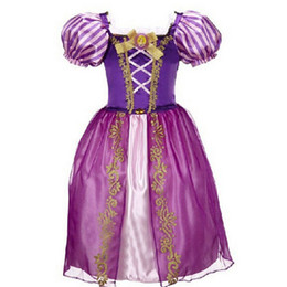 Wholesale Princess Snow - Summer Baby Girls Cinderella Dresses Children Snow White Princess Dresses Rapunzel Aurora Kids Party Halloween Costume Clothes
