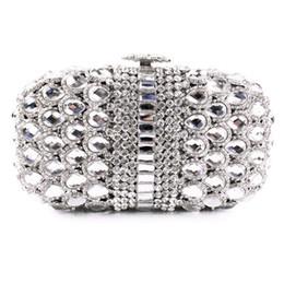 Wholesale Women S Clutches - Wholesale-hard box silver rhinestone clutch evening bags clutch evening handbags (8596A-S)