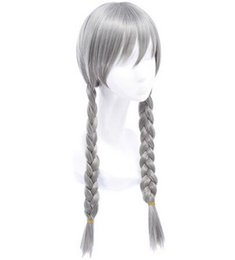 Wholesale Wig Accessories Supplies - Wholesale-judy rabbit wig silver wig silver pigtail wig anime pigtail wig halloween party supplies anime cosplay hair silver hair