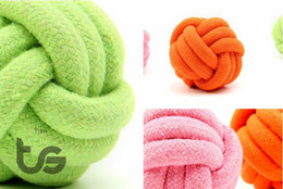 Wholesale Dog Rope Cotton - Candy colors Cotton rope Ball Diameter:8CM Dog toys 100% Cotton 8cm XL Dog Toys large Dogs Bite Rope Labrador Large Dog toys Pet toy