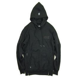 Wholesale Kpop Pullover - Streetwear Hip Hop brand-Clothing kpop Clothes pullover Men jacket 10 deep asap rocky drake fleece grey black side zip Hoodie