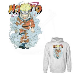 Wholesale Anime Appliques - New Popular anime Uzumaki Naruto stickers 27*19.24cm Iron On Patches For Clothes DIY Decoration T-shirt Hoodies Appliques