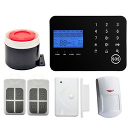 Wholesale Ios App Security - Android IOS APP Control Wireless Touch Keypad PSTN GSM SMS Home Security Alarm System Support dual-networkand GSM mobile network