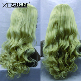 Wholesale Extra Long Lace Wigs - Best Sales Top quality extra long blonde natural wave synthetic lace front wig Free Shipping Top Lace Party Wigs On Line Sale