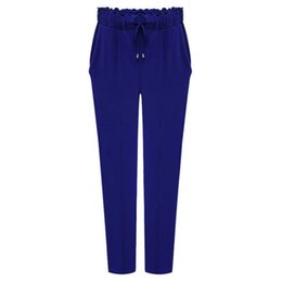 Wholesale Haren Pants Women - Wholesale-Plus size 6XL Women Pants 2016 Fashion Loose Elastic Haren pants Solid Color Sexy Female Trousers Leggings Pantalones Mujer