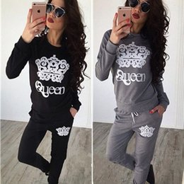 Wholesale Tracksuit For Plus Women - Women's Sport Suits 2017 Brand New Tracksuit for women sweatshirt and Joggers sets Plus Size Autumn Winter Coat svitshot hoodie