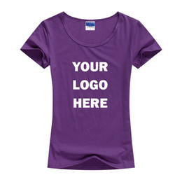 Wholesale CUSTOM MADE SCREEN PRINTED WOMEN S T SHIRTS PRINT ONE COLOR INK COTTON TEES WITH YOUR OWN LOGO HFCMT002