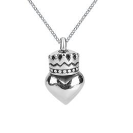 Bijoux en frêne en Ligne-Lily Cremation Jewelry Crown avec coeur Urne Collier Memorial Ash Keepsake Pendentif avec sac-cadeau Entonnoir et chaîne