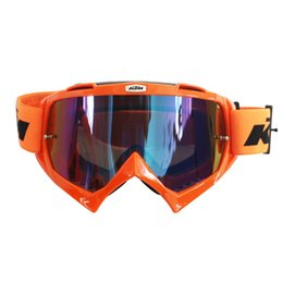 Wholesale Goggle Paintball - Hot Sales KTM Motorcycle Goggle Motocross Glasses MOTO ATV Gafas Racing Protective Gear Cycling Mask For Paintball& CS Sports