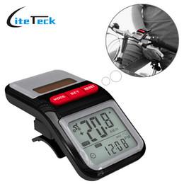 Wholesale Multifunction Bicycle Computer - Multifunction LCD Solar Power Bicycle Bike Speedometer Pedometer Odometer Cycling Computer