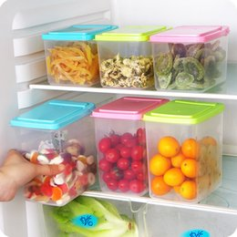 Wholesale Foods Can - Kitchen Half Flip Food Storage Box Storage Tank Airtight Plastic Containers Sealed Cans For Coarse Cereals Grains