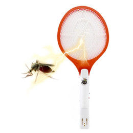 Wholesale Electric Racket - SP-309C Rechargeable Electric Insect Bug Bat Wasp Mosquito Zapper Swatter Racket anti mosquito killer Electric Mosquito Swatter Pad with LED
