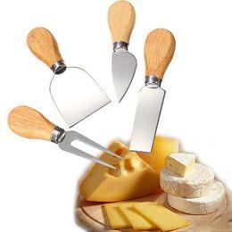 Wholesale Shop Kits - 4 pcs Knives Oak Bardo Mango Cheese Knife Set Kit Kitchen Accessories Kitchen Useful Tools free shopping