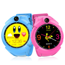 Wholesale Baby Watch Camera - Free Shipping Q610 Kid Smartwatch w Camera Base Location Touch Screen Child Wrist Band APP SOS Anti-Lost Monitor Baby Brecelet Smart Watch