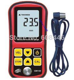 Wholesale Ultrasonic Thickness Meter Gauge Velocity - Wholesale-Hot 4 Digits LCD Display Ultrasonic Thickness Meter Tester Gauge Velocity 1.2~225mm