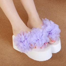 Wholesale Sandals 9cm Heel - Hot 2016 New fashion Women's sandals high heel Trifle slippers women wedge sandals 9cm high heels flip flops free shipping 35-39