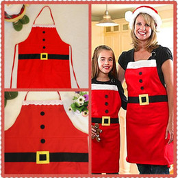 Wholesale Household Supplies Wholesale - Christmas Decoration Apron Kitchen Aprons Christmas Dinner Party Apron Santa Red Christmas Decoration Supplies Household Tools OOA3094
