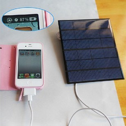 Wholesale Travel Battery Charger Cell Phones - 6v 3.5w 580-600MA Solar Panel USB Travel Battery Charger For Mobile Phone