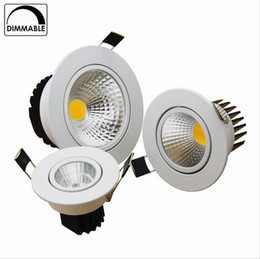 Wholesale Downlight Cob 5w - Brightness Dimmable Led Downlight COB 5W 7W 9W 12W Ceiling light Spotlight AC110 220V Recessed Downlight Fixtures For Home