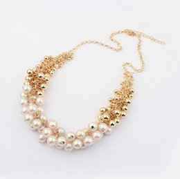 sell statement necklaces Coupons - Wholesale-2015 New Hot Sell Simulated Pearl Jewelry Trendy Women Necklaces & Pendants Short Chokers Statement Necklace For Gift Party