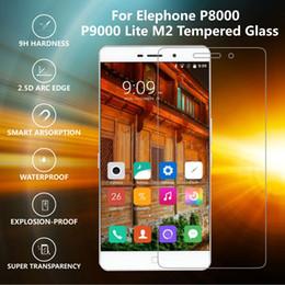 pantalla de teléfono Rebajas Al por mayor-original IST 0.3mm 9H 2.5D de vidrio templado para Elephone P8000 P9000 Lite M2 M3 Película Protector de pantalla LCD