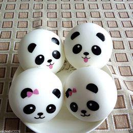 Wholesale Pair Phone - 2pcs lot Cute 4cm Panda Squishy Kawaii Buns Bread Charms Bag Key Cell Phone Straps Pair Random Soft Panda Squishy Bread Semll