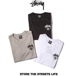 Wholesale T Shirt Couple New - 2017 New Brand Clothing Embroidery Logo Men T-shirt Trend Fashion Summer Street Couple T Shirt Cotton Solid Man Top Tees AMD024