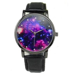 Wholesale Galaxy Women Top - TOP sale Watch Women Milk Way Pu Leather quartz wristwatch Woman Fashion casual geneva style Reloj para Dama Universe Galaxy
