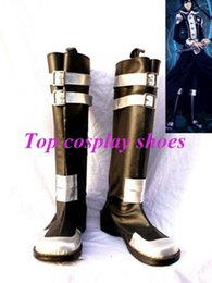 Wholesale Costumes D Halloween - Wholesale-Freeshipping D Gray-Man Yu Kanda Cosplay Boots shoes #57815 hand made Custom made for Halloween Christmas