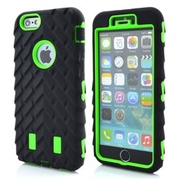 Wholesale Tires For Phone - Tire Dual Layer Defender Cases For iPhone6 4.7 Inch iphone7 7 plus TPU + Hard Plastic 3 in 1 Heavy Duty Armor Hybrid Phone Cover