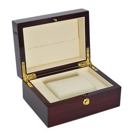 Wholesale Burgundy Gift Box - Top Grade Wooden Watch Boxes Brand Men Watch Packaging Boxes Burgundy Natural Wood Gift Boxes for watches