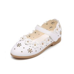 Wholesale Footwear For Children - Baby Girl Shoes Toddler Girl Shoes For Children's Footwear Princess Hollow Flowers Breathable Hooks Child Soft Bottom Shoe