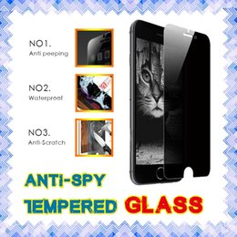 Wholesale 3d Spy - Privacy Anti spy tempered glass screen protector For iphone 6s plus 5 5SE Samsung S7 Retail Box 01