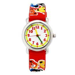 Wholesale Gilrs Watches - Wholesale-Cool 3D Bear Design Kids Gilrs Gift Quartz Watches silicone Strap Dress Wristwatches Relogio Masculino