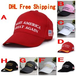 Wholesale Wholesale Hats Usa - 120Pcs Make America Great Again Hat Donald Trump Republican Snapback Sports Hats Baseball Caps USA Flag Mens Womens Fashion Cap F765