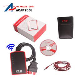 Wholesale Universal Auto Scanner Multi Language - 2016 Orignial Wireless Universal Car Diagnostic Tool UCANDAS VDM Multi-language Update Online Auto Scanner VDM DHL Free Shipping