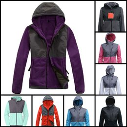 Wholesale Down Coats Jackets - Top Quality Winter Women Fleece Hoodies Jackets Camping Windproof Ski Warm Down Coat Outdoor Casual Hooded SoftShell Sportswear Black S-XXL
