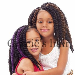 Wholesale Kanekalon Hair Blonde - Short length havana twist crochet braids hair extension 12inch 60g piece synthetic braiding hair kanekalon synthetic crochet braid hair