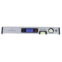 Wholesale Spirit Level Angle Finder - 400mm Digital Angle Finder Level 360 Degree Range Spirit Level Upright Inclinometer with Magnets Protractor Ruler Blue Backlight