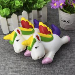 Wholesale Unicorns Toys - KawaiiToys Unicorn Jumbo Slow Rising Squishy Toy Scented Soft Kawaii Squishy Animal Toy White Unicorn Stress Reliever Toys Gift